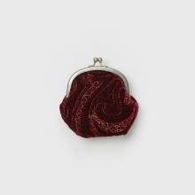 Hender Scheme / エンダースキーマ | velvet quilt snap pouch - Burgundy