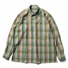 AURALEE / オーラリー   SUPER LIGHT WOOL CHECK SHIRTS - Green Check