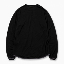 and wander / アンドワンダー | merino base T - Black