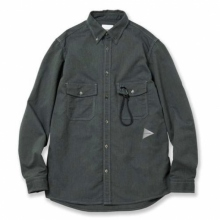 and wander / アンドワンダー | soft ox shirt (M) - Green