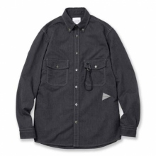 and wander / アンドワンダー | soft ox shirt (M) - Navy
