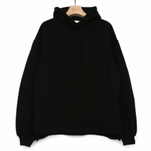 WELLDER / ウェルダー | Flutter Tail Hooded Pullover - Black