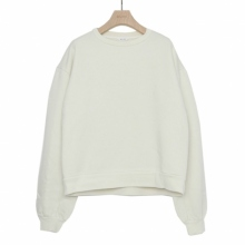 WELLDER / ウェルダー | Buck Side Tucked Crewneck - Pearl