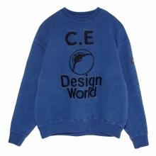 C.E / シーイー | DESIGN WORLD CREW NECK - Blue