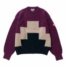 C.E / シーイー | ZIGGURAT KNIT GREY - Purple
