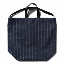 ENGINEERED GARMENTS / エンジニアドガーメンツ | Carry All Tote w/ Strap - H.B Gangster St. - Dk.Navy