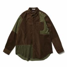 ENGINEERED GARMENTS / エンジニアドガーメンツ | Combo Short Collar Shirt - Cotton 21W Corduroy - Brown
