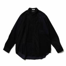 ENGINEERED GARMENTS / エンジニアドガーメンツ | Combo Short Collar Shirt - Cotton 21W Corduroy - Black