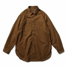 ENGINEERED GARMENTS / エンジニアドガーメンツ | Work Shirt - Cotton Micro Sanded Twill - Brown
