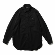 ENGINEERED GARMENTS / エンジニアドガーメンツ | Work Shirt - Cotton Micro Sanded Twill - Black