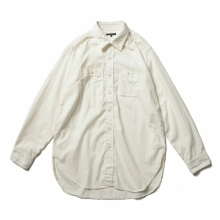 ENGINEERED GARMENTS / エンジニアドガーメンツ | Work Shirt - Cotton Micro Sanded Twill - Ivory