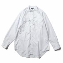 ENGINEERED GARMENTS / エンジニアドガーメンツ | Banded Collar Shirt - Cotton Nano Twill - White
