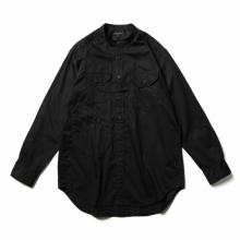 ENGINEERED GARMENTS / エンジニアドガーメンツ | Banded Collar Shirt - Cotton Nano Twill - Black