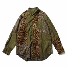 ENGINEERED GARMENTS / エンジニアドガーメンツ | Combo Short Collar Shirt - Cotton Paisley Print - Olive / Purple