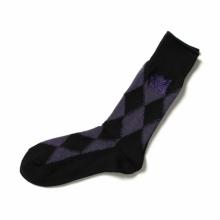 Needles / ニードルズ | Argyle Jq. Socks - Merino Wool - Purple