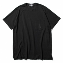 ENGINEERED GARMENTS / エンジニアドガーメンツ | Printed Cross Crew Neck T-shirt - 1G - Black