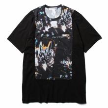 COMME des GARONS SHIRT | cotton jersey plain with cotton jersey with futura print - Black/Print A_2