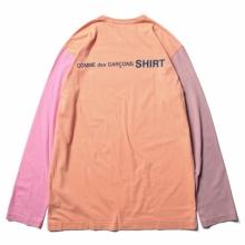COMME des GARONS SHIRT | cotton jersey plain with CDG SHIRT logo back - Orange / Mix