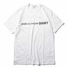 COMME des GARONS SHIRT | cotton jersey plain with front cdg SHIRT logo - White