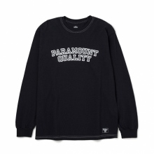 BEDWIN / ベドウィン | L/S C-NECK PRINT T 「LURIE」 - Black