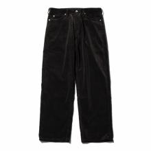 AURALEE / オーラリー | WASHED CORDUROY 5P PANTS - Black Brown