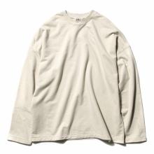AURALEE / オーラリー | SUPER HIGH GAUGE SWEAT BIG L/S TEE - Ivory Beige