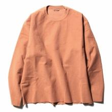 AURALEE / オーラリー | SUPER MILLED SWEAT CUT-OFF P/O - Coral Pink