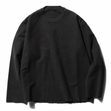 AURALEE / オーラリー | SUPER MILLED SWEAT CUT-OFF P/O - Black