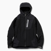 and wander / アンドワンダー | stretch shell jacket - Black