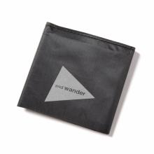 and wander / アンドワンダー | hybrid cuben fiber wallet - Pure Black