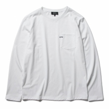A.P.C. / アーペーセー | T-SHIRT POCKET emb L/S - White