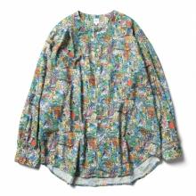 RANDT / アールアンドティー | RANDT - No Collar Shirt - Animal Print - Multi Color
