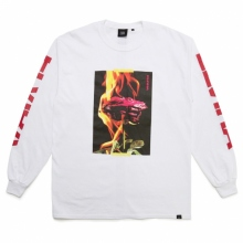ELVIRA / エルビラ | BURNING ROSE L/S T-SHIRT - White