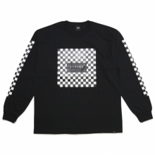 ELVIRA / エルビラ | CHECKER SQUARE L/S T-SHIRT - Black