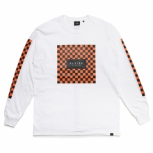 ELVIRA / エルビラ | CHECKER SQUARE L/S T-SHIRT - White