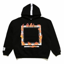 ELVIRA / エルビラ | BURNING FRAME HOODY - Black