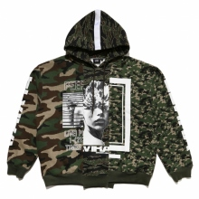 ELVIRA / エルビラ | ALL OVER REMAKE HOODY - Camo