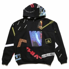 ELVIRA / エルビラ | REMAKE PATCHWORK HOODY - Black
