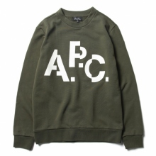 A.P.C. / アーペーセー | Décalé スウェット - Military Khaki