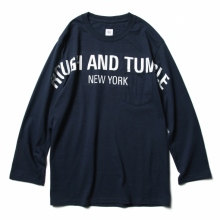 RANDT / アールアンドティー | RANDT - Logo Long Sleeve T-Shirt - RANDT - Navy