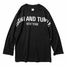 RANDT / アールアンドティー | RANDT - Logo Long Sleeve T-Shirt - RANDT - Black