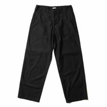 CIOTA / シオタ | スビンコットン ムラ糸バックサテン ベイカーパンツ - Black