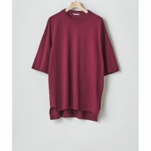 AURALEE / オーラリー | SUPER FINE COTTON SALT SHRINK PIQUE BIG TEE - Bordeaux