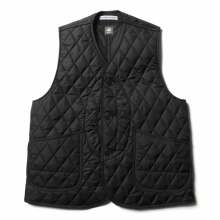 ....... RESEARCH | QUILTED HUNTING VEST - Black