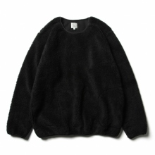 THE CONSPIRE / ザ コンスパイアーズ | shearling crew pullover - Black