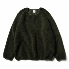 THE CONSPIRE / ザ コンスパイアーズ | shearling crew pullover - Olive