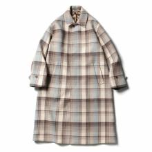 AURALEE / オーラリー | WOOL CHECK MELTON LONG SOUTIEN COLLAR COAT - Brown Check