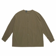 N.HOOLYWOOD / エヌハリウッド | 2211-SH25-006-peg COLLARLESS SHIRT - Khaki