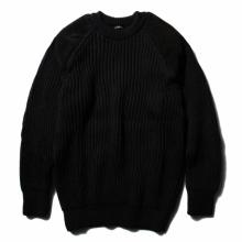 COMOLI / コモリ | BLACK SHEEP別注 ガンパッチニット - Black