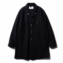 ....... RESEARCH | Long Jacket - Navy Melton - Navy